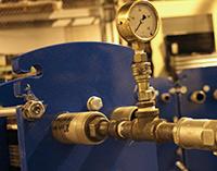 Inspeção final e teste hidrostático